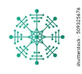 isolated snowflake of christmas ... | Shutterstock .eps vector #509325676