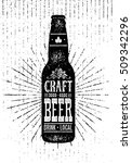 local craft beer creative... | Shutterstock .eps vector #509342296