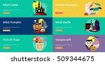 halloween conceptual banner  ... | Shutterstock .eps vector #509344675