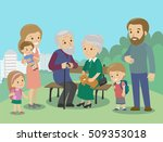 big family characters with... | Shutterstock .eps vector #509353018