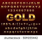Vector Gold Letters.set Of...