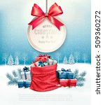 christmas presents with a gift... | Shutterstock .eps vector #509360272