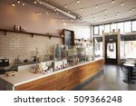 empty cafe or bar interior ... | Shutterstock . vector #509366248