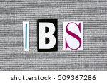 ibs  irritable bowel syndrome ... | Shutterstock . vector #509367286