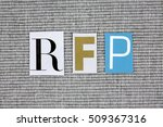 rfp  request for proposal ... | Shutterstock . vector #509367316