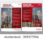 modern elegance annual report...   Shutterstock .eps vector #509377966