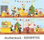 merry christmas party in the... | Shutterstock .eps vector #509399755