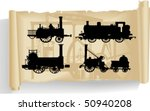 Vector Silhouettes  Locomotive...