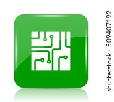 circuit board icon. internet... | Shutterstock . vector #509407192