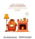 colorful vector cozy warm ...   Shutterstock .eps vector #509414365