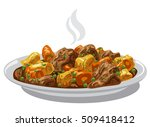 illustration of beef stew meat... | Shutterstock .eps vector #509418412