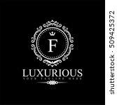 luxury logo template in vector... | Shutterstock .eps vector #509425372