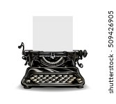 vintage typewriter isolated on... | Shutterstock .eps vector #509426905