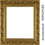 picture frame isolated on white ... | Shutterstock . vector #509429185