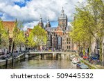 view of canal and st. nicholas... | Shutterstock . vector #509445532