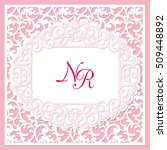 a square template for wedding... | Shutterstock .eps vector #509448892