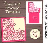lasercut vector wedding... | Shutterstock .eps vector #509465356