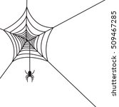 spider web background on white.  | Shutterstock .eps vector #509467285