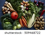 variety of vegetables on table    Shutterstock . vector #509468722