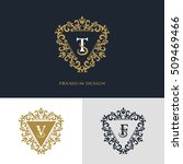monogram design elements ... | Shutterstock .eps vector #509469466