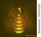 christmas tree illustration. | Shutterstock .eps vector #509470132