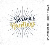 Christmas Greetings Lettering ...