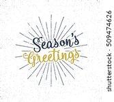 Christmas Greetings Lettering ...