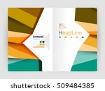 business abstract geometric... | Shutterstock .eps vector #509484385
