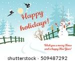 Happy Holidays Background ...