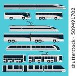public transport orthogonal... | Shutterstock .eps vector #509491702