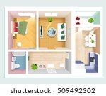 modern graphic apartment top... | Shutterstock .eps vector #509492302