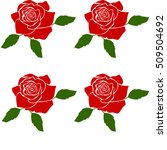 silhouette of a rose in a...   Shutterstock .eps vector #509504692