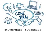 social media viral ideas... | Shutterstock . vector #509505136