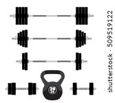 sports equipment for fitness ... | Shutterstock .eps vector #509519122