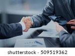 business people shaking hands... | Shutterstock . vector #509519362