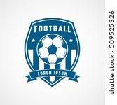 football emblem blue flat icon... | Shutterstock .eps vector #509525326