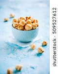 popcorn with salted caramel   Shutterstock . vector #509527612