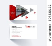 vector business card template... | Shutterstock .eps vector #509530132