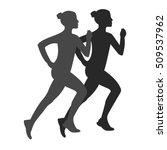 sport icon running silhouette... | Shutterstock .eps vector #509537962