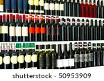 Close Up Detail Of Wine Bottles ...