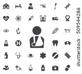 injured man icon on the white... | Shutterstock .eps vector #509544286