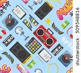 graffiti wall hip hop pattern...   Shutterstock .eps vector #509548816