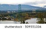 lions gate bridge   vancouver | Shutterstock . vector #509551336