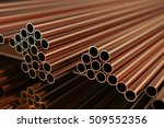 copper metal. warehouse copper... | Shutterstock . vector #509552356