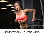 fitness girl with a beautiful... | Shutterstock . vector #509556346