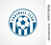 football emblem blue line icon... | Shutterstock .eps vector #509570056