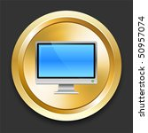 television on golden internet... | Shutterstock .eps vector #50957074