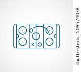 hockey strategy blue line icon... | Shutterstock .eps vector #509574076