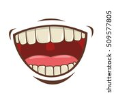 mouth cartoon icon | Shutterstock .eps vector #509577805