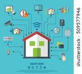 smart home. flat design style...   Shutterstock .eps vector #509577946